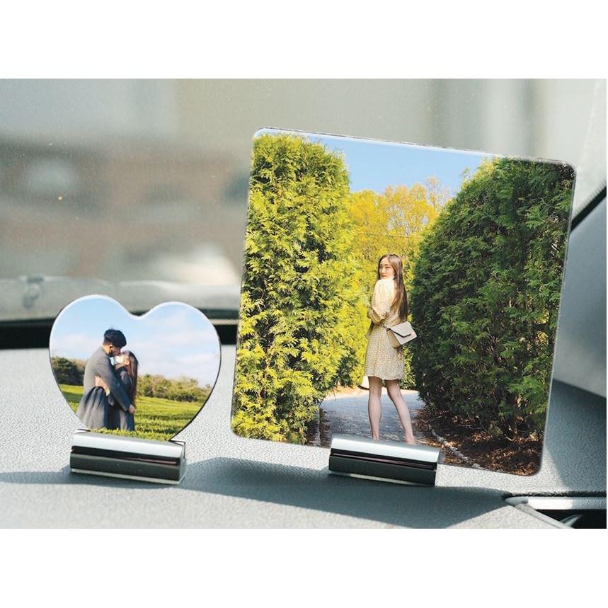 심플한 차량용 대쉬보드 스테인레스 사진 메모 클립 거치대 인테리어 카드 (POP 2097641641)