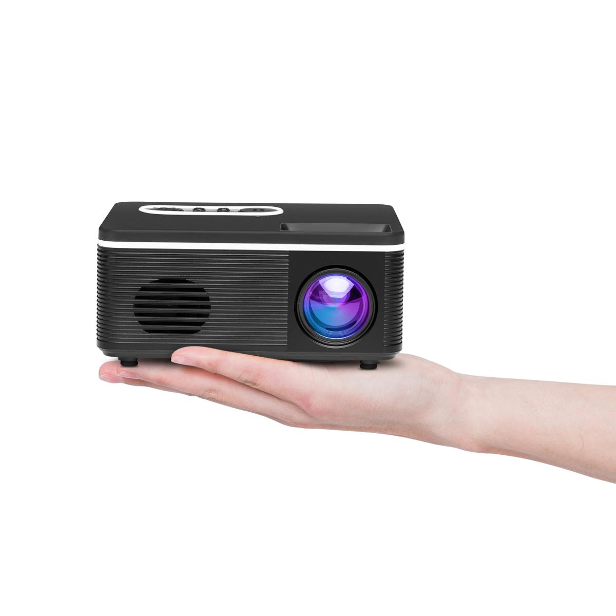 가성비 미니 홈 빔 프로젝터 스마트폰 LED 휴대용, Black standard