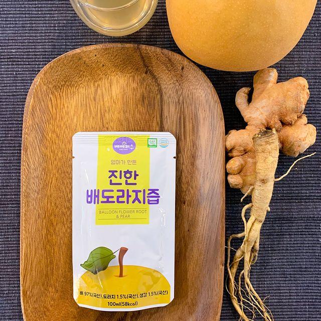 베베퍼스 엄마가 만든 진한 배도라지즙 1박스 40포 아기간식 도라지배즙 건강즙 어린이간식 qlkw, 1개, 상세페이지참조()