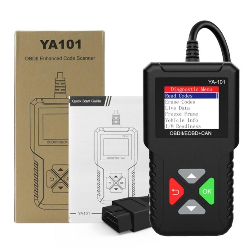 YA101 Obd2 스캐너 다국어 전문 코드 리더 OBD 2 자동차 스캐너 자동차 진단 도구 PK ELM327 무료 업데이트, 협력사