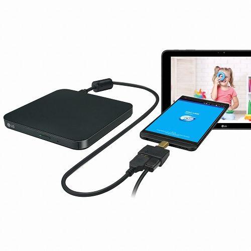LG전자 KP95NB72 PLUS DVD-RW 외장형 ODD, KP95NB72 블랙 (POP 1137787286)