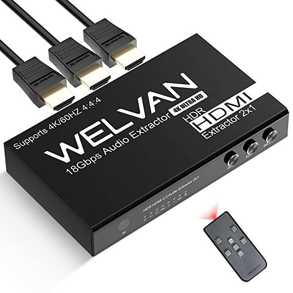 HDMI Switch Converter 2x1 1x1HDMI Switch with Audio Extractor Analogue Optical Toslink SPDIF Output