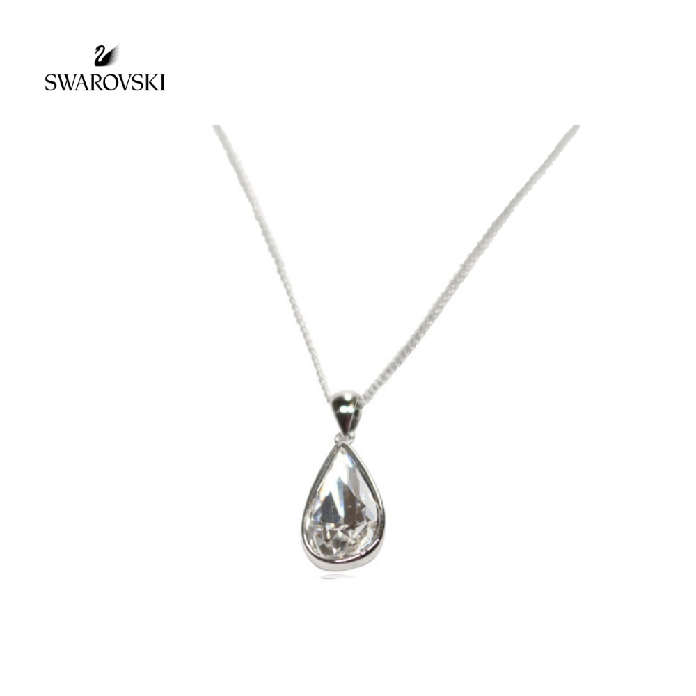 SWAROVSKI Crystal Tear drop Necklace 스와로브스키 크리스탈 주얼리 물방울목걸이 워터 드롭 티어드롭 목걸이 유행 패션 블루 시원한 썸머쥬얼리 20대 30대 여자 여대생 데일리 악세사리 선물 추천 정품 Necklace