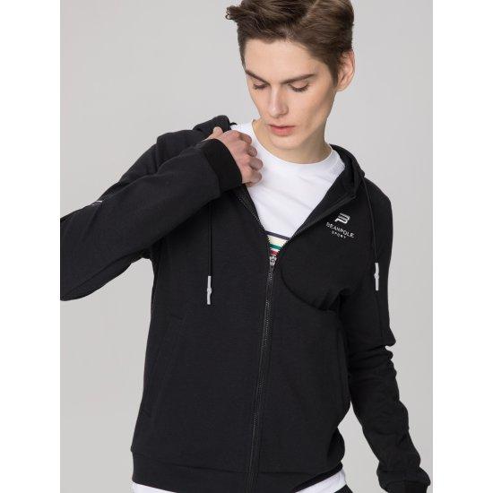 빈폴스포츠 Unisex 블랙 C-STEM 시스템 트레이닝 후드 집업 티셔츠 (BO9141F015)