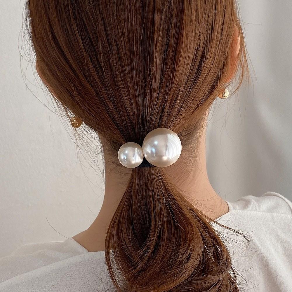 초콜리트쥬얼리 [1+1무배] 켈리 진주방울 고무줄 머리끈