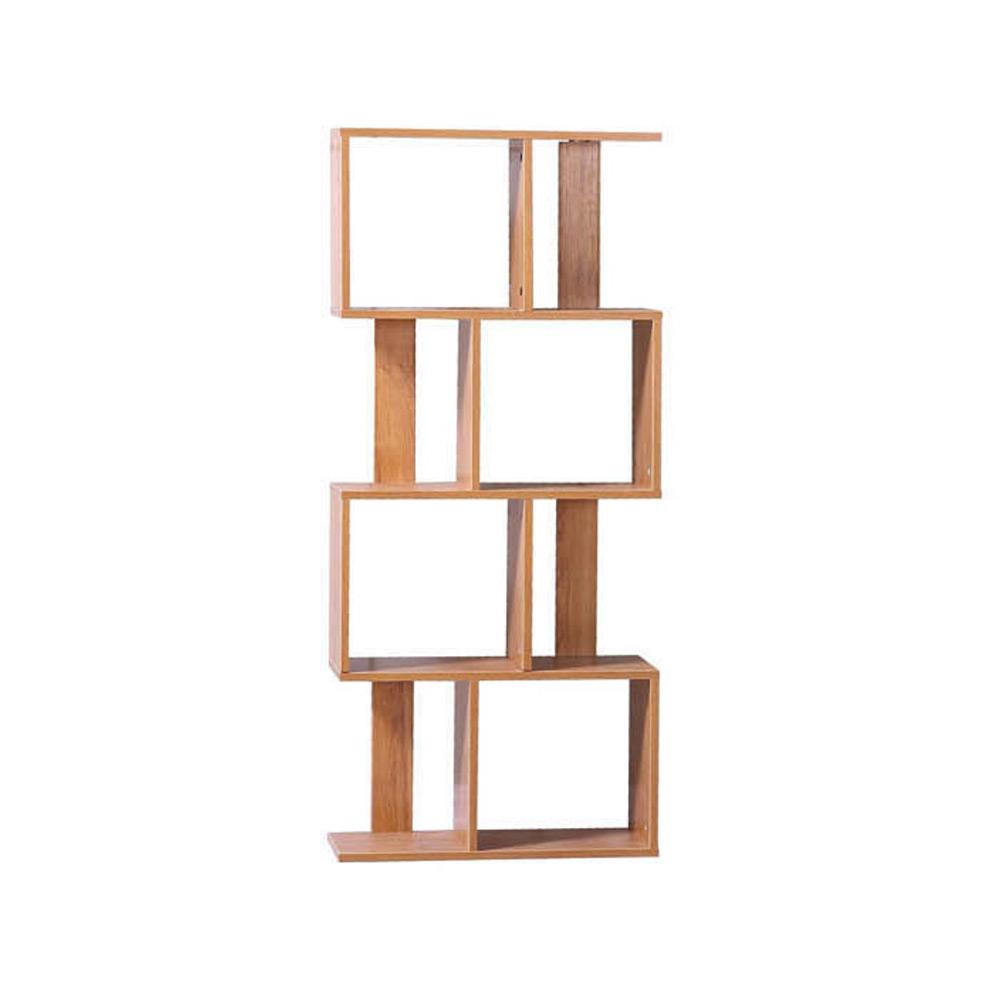 퍼즐책장 디자인책장 인테리어책장 수납책장 4단책장, 오크우드B