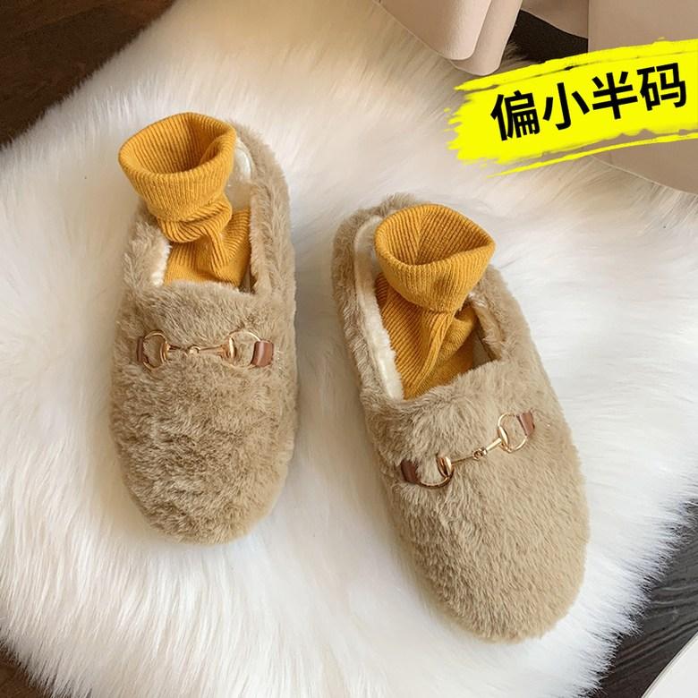 Jan.14 38번 털슬리퍼 여성 실내화 가을겨울 패션 가방 반다나 패딩 슬리퍼Z