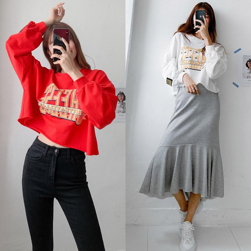 걸즈팩토리 여성용 치즈 캐주얼 맨투맨 티셔츠