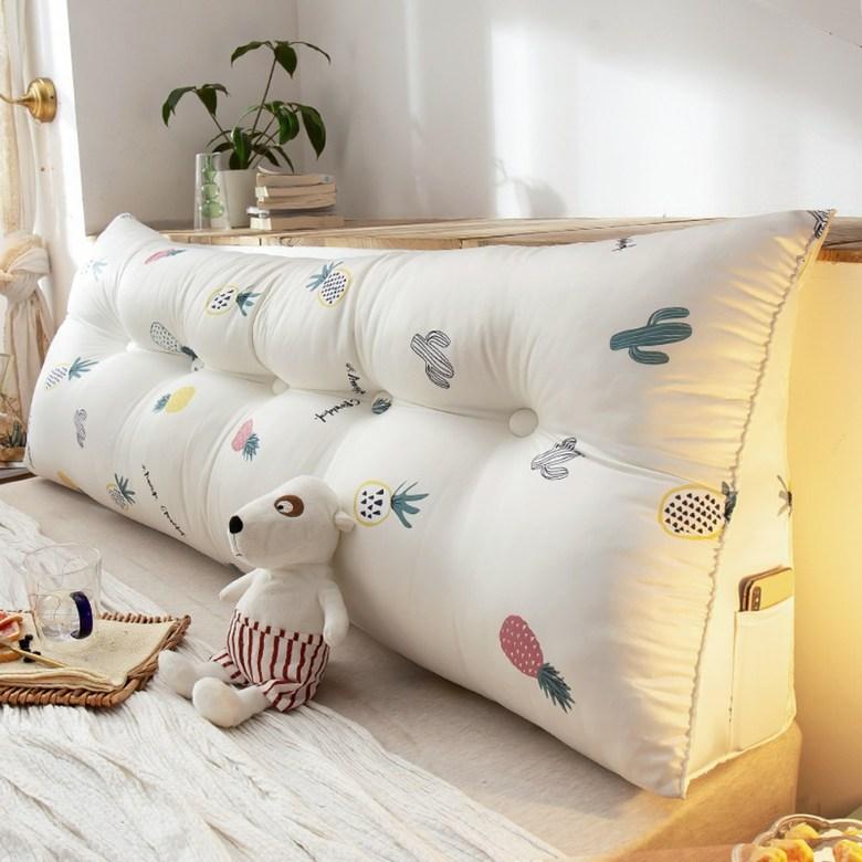 침대등받이쿠션 허리등받이 북유럽 감성 대형 직사각쿠션, W + 길이 120 × 두께 23 × 높이 50cm (POP 2092289032)