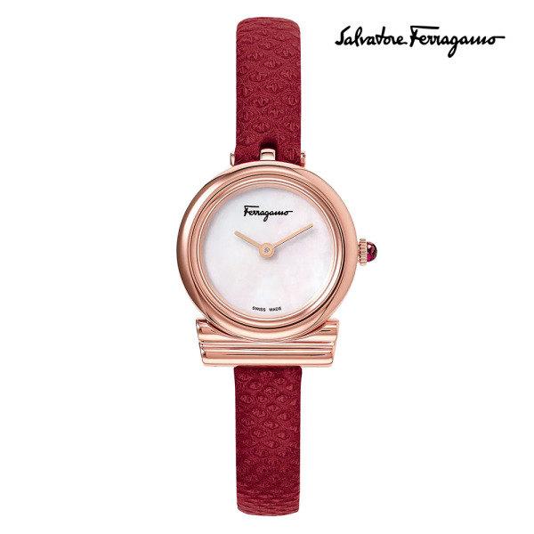 [페라가모(시계)] 페라가모 간치니 가죽시계 SFIK006-19 25.5mm