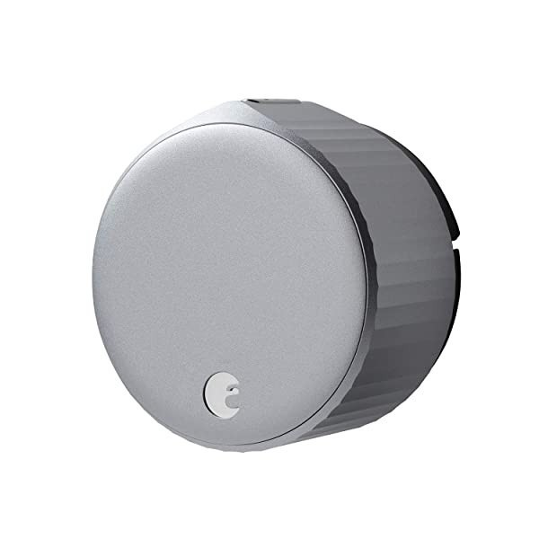 August Wi-Fi Smart Lock (Newest Model 4th Gen) - Alexa Google Assistant Home Kit SmartThings and, Silver_Smart Lock