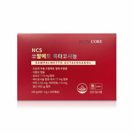 뉴트리코어 NCS 쏘팔메토 옥타코사놀 600mg x 60캡슐 x 5병 / 정품, 상세페이지 참조, 상세페이지 참조