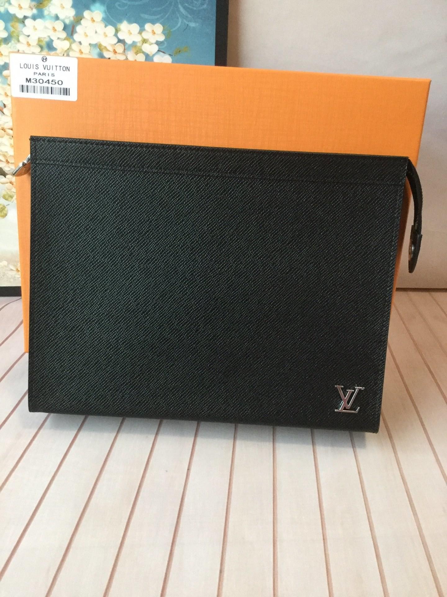 BBAG-루이비통 M30450 클러치 블랙