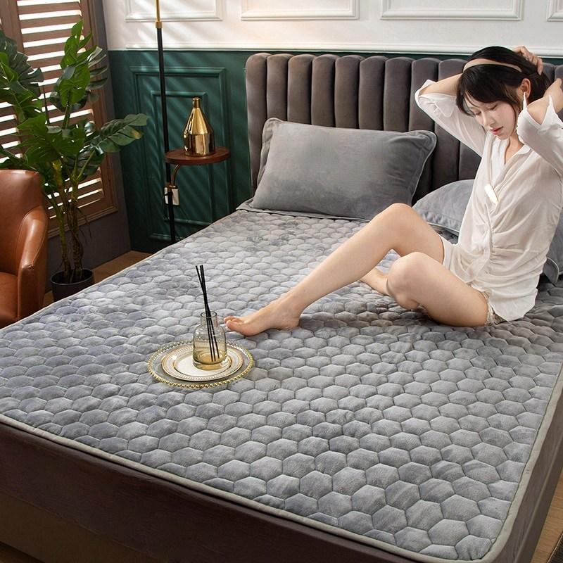 토퍼 템퍼 매트리스 침구 기타 겨울 기모 쿠션 학생 기숙사 싱글 담요 침대, AQ_0.9 x 2m
