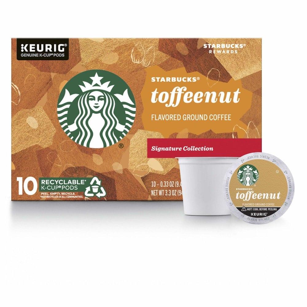 Starbucks 스타벅스 K컵 Keurig 토피넛 10개 캡슐커피, 1개