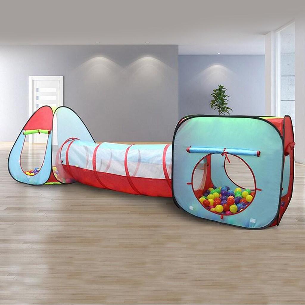QDY 텐트 장난감을 재생 3 1 어린이 텐트 키즈 터널 텐트, 폴리 에스테르, 다중