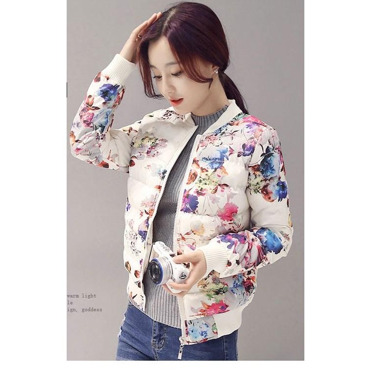 여성 경량 꽃무늬 패딩 점퍼 잠바 HC00366
