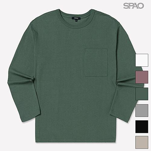 [스파오] 스파오 포켓 솔리드 티셔츠_SPLW812C02