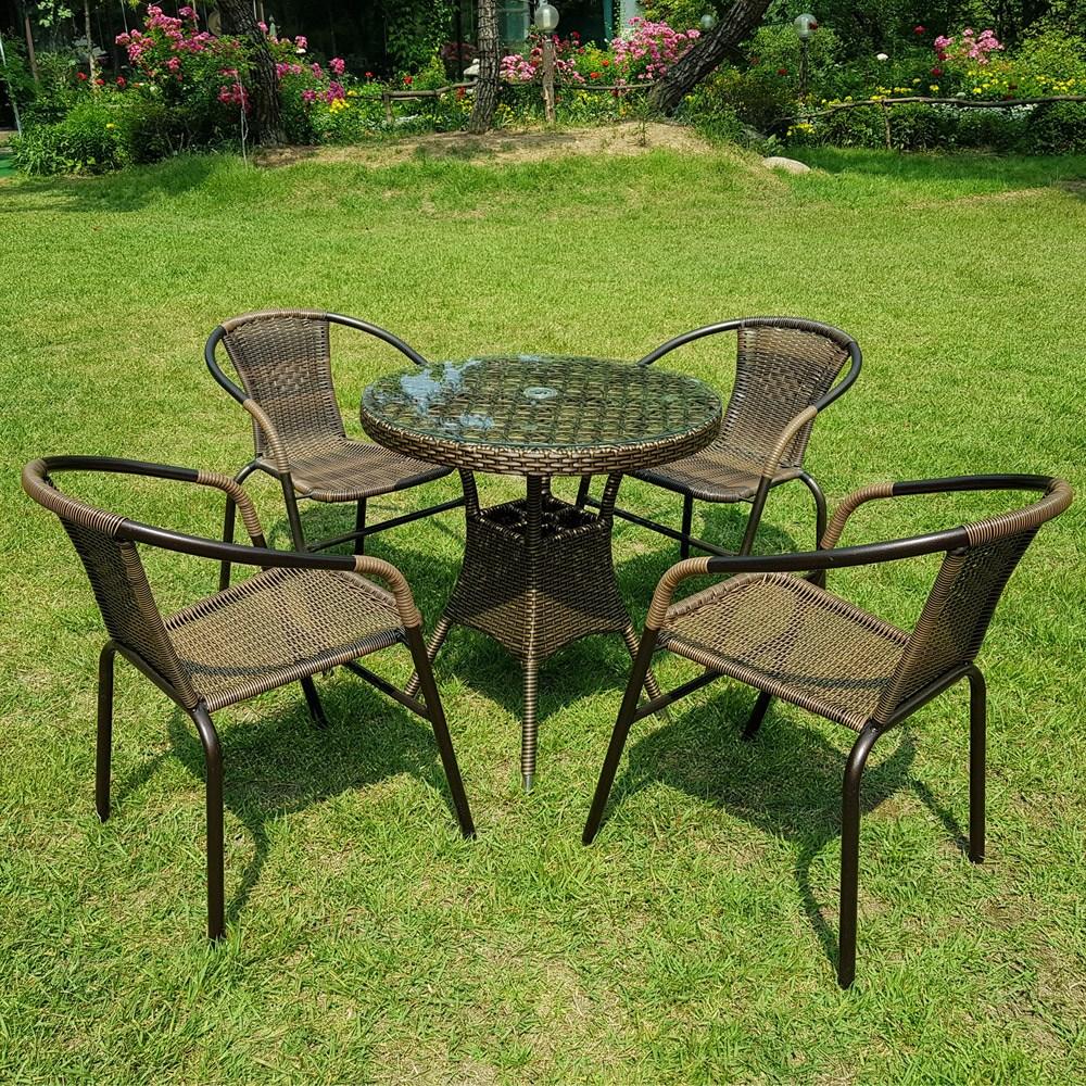 하이골드테이블 600700800(1개)+유로39번 야외의자(4개), 테이블600원형+의자4개