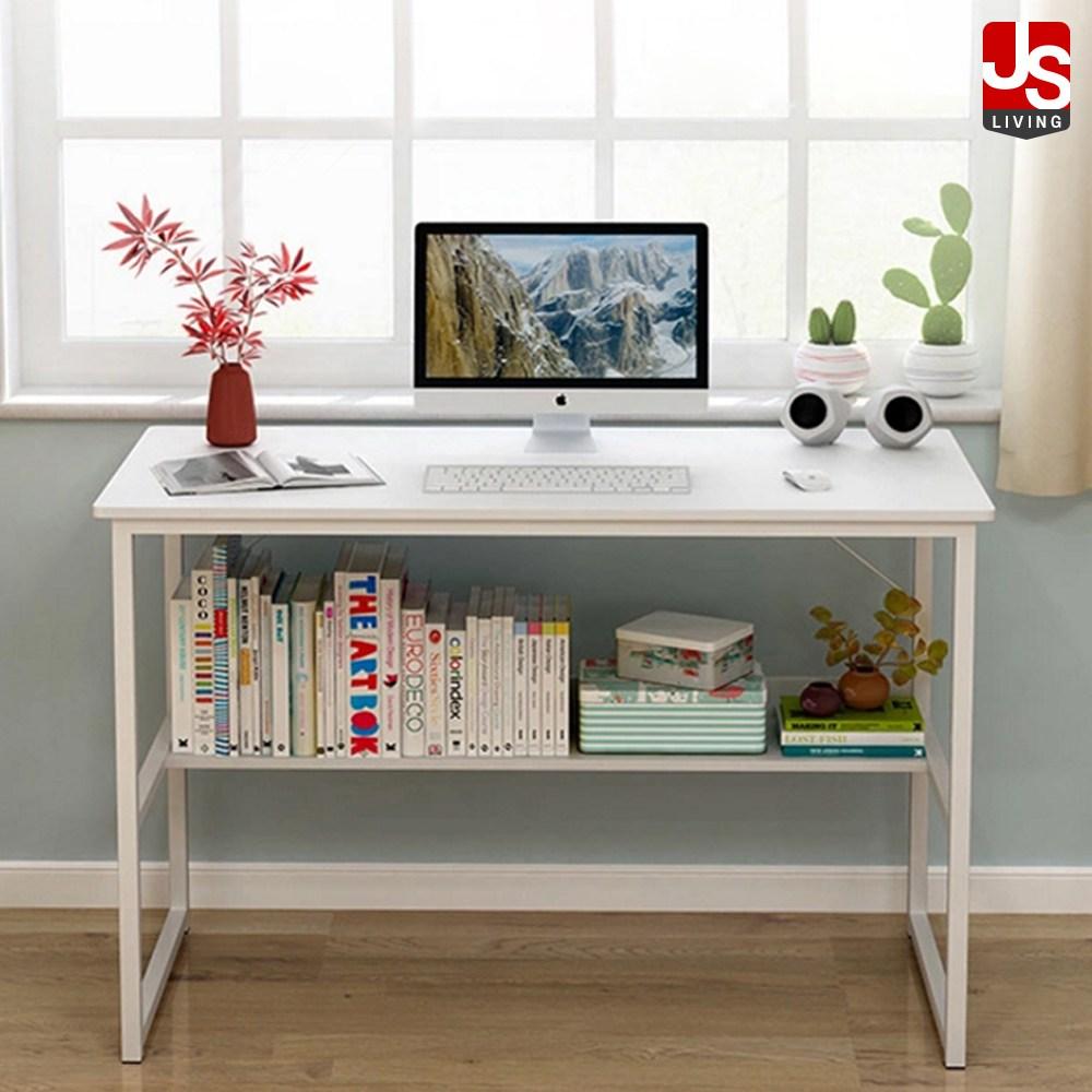 JS리빙 사무용책상 높은 원목 미니 노트북 이동식 책상 협탁 접이식 티 식탁 베드 트레이 좌식 간이 보조 높이 각도 조절 거실 튼튼한 사이드 테이블 사무실 C57-587, 언더랙 데스크 (POP 1797592263)