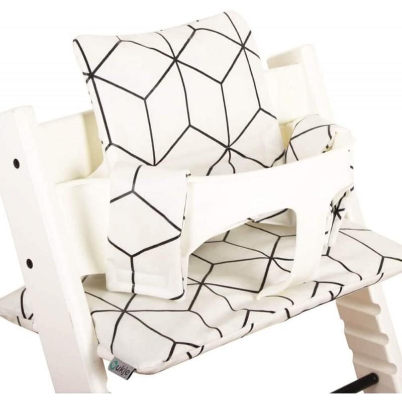 스토케 트립 트랩 코팅 실용적이고 두꺼운 패딩 화이트 기하학적 기계 세탁 2 피스 아코 텍스 코튼을위한, 단일상품, 단일상품