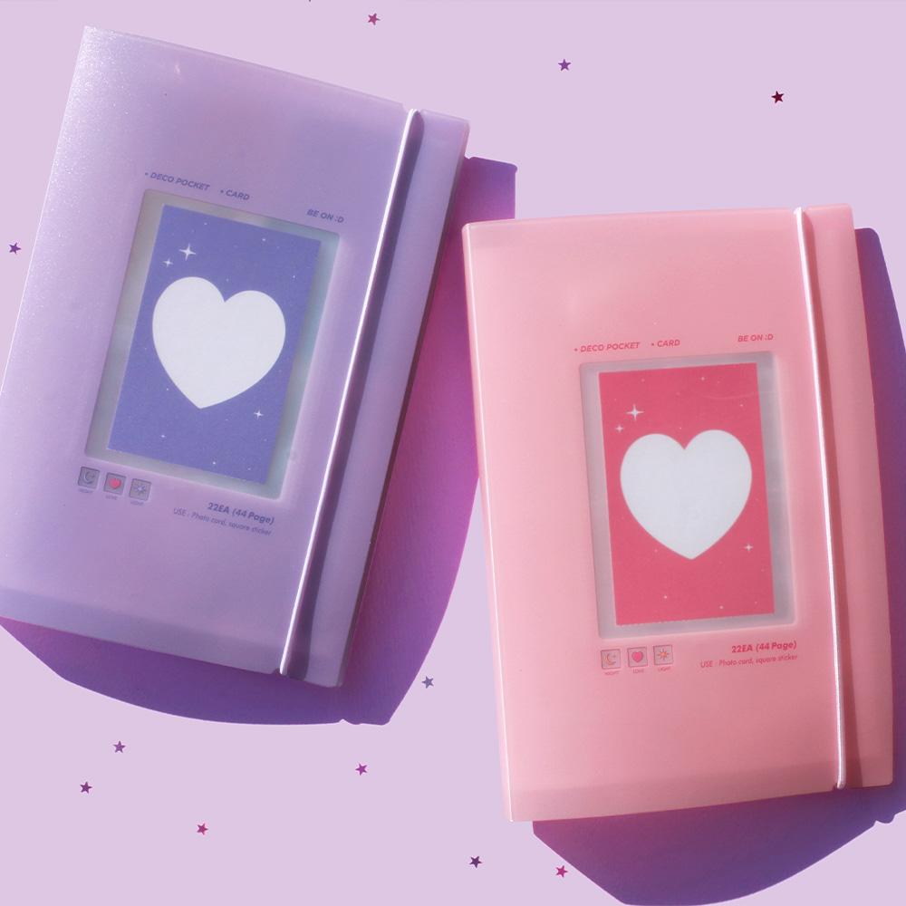 [B ON D] 비온뒤 데코포켓 포토카드 파일, 핑크