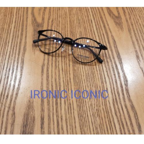 아이로닉아이코닉(ironiciconic) IN6728 C.8(유광블랙) 프랭크커스텀 FP6728 완벽호환 초경량 코가편한안경