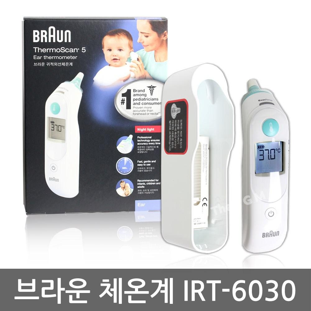 브라운 써모스캔 귀 체온계 IRT-6030, 1개