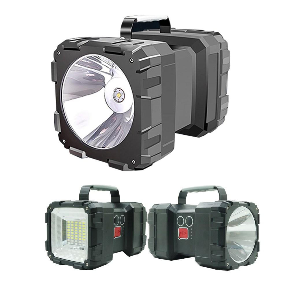 디제이디 LED 충전식 랜턴 손전등 서치라이트 후레쉬 투광기 양쪽면사용L2, 1개
