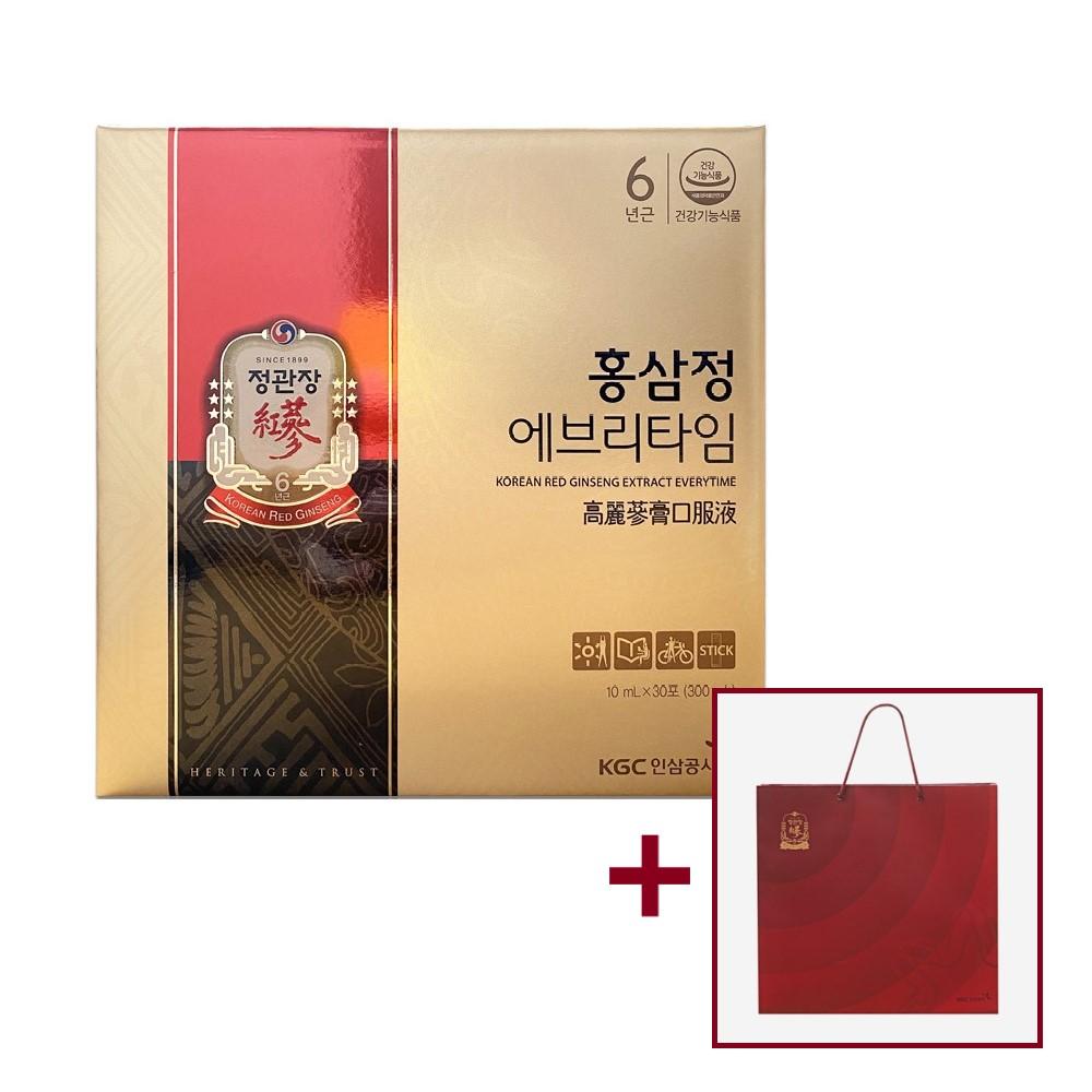 정관장 홍삼정 에브리타임 오리지널 10ml 30포 1박스, 5박스