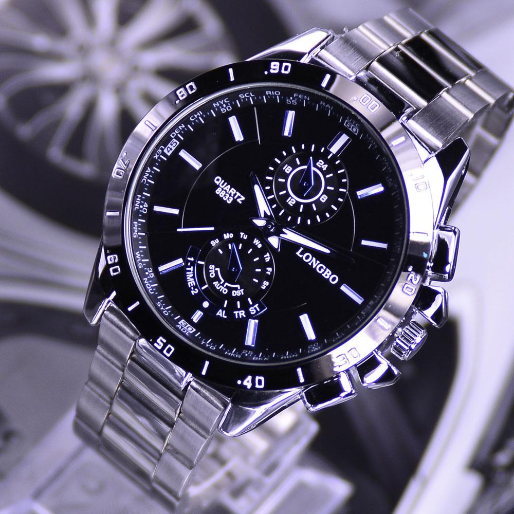 월드타임 LONGBO시계 손목시계 메탈시계 남성시계 NO-8833