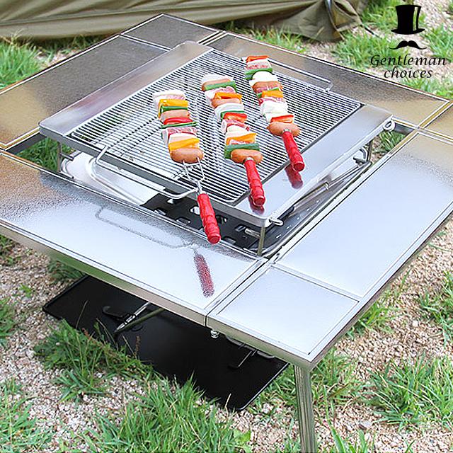 젠틀맨초이스 화로대 로우 테이블 캠핑 용품 바베큐 스탠드-26-206213290