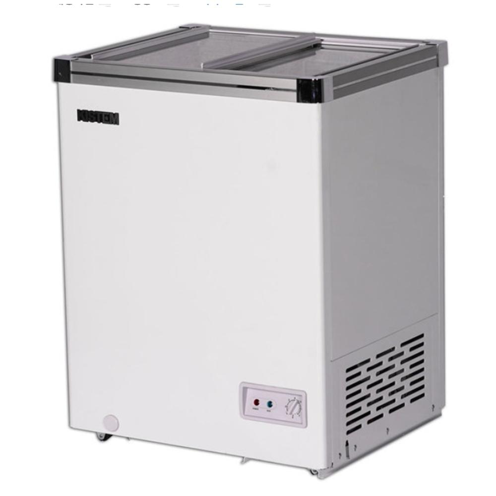 키스템 소형냉동고 KIS-SD10F 카페 마트 아이스크림 냉동과일 냉동고, 140리터(KIS-SD14F)