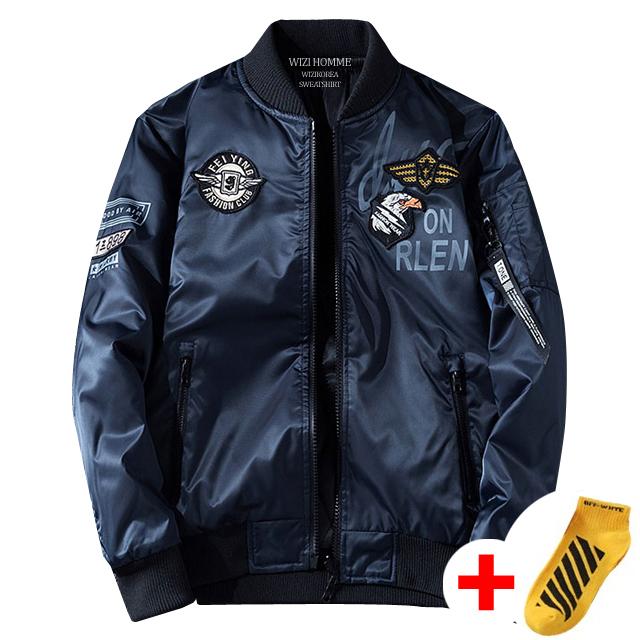 위즈아이 이글 항공점퍼 양면 블루종 봄 자켓 아우터 WI047J+국내발송+양말증정