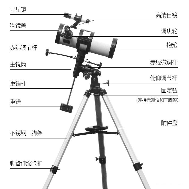 셀레스트론 돕소니안 허블 망원경 인스텔라 초대경 반사식 천문망원경 진114mm 달 성운입, 01 기본 세트