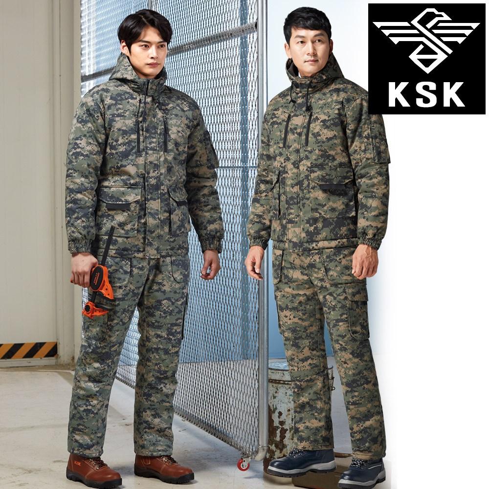KSK-687 미해병 방한복 상의 하의 개별판매 얼룩색 상의-기모 하의-패딩 작업복 겨울 동계 점퍼 바지 KP-687 62P