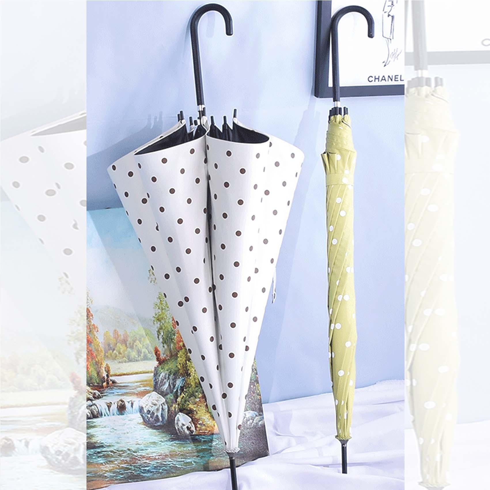 제이스 땡땡이 우양산 예쁜 도트장우산 UV차단 양우산 파스텔톤 예쁜장우산