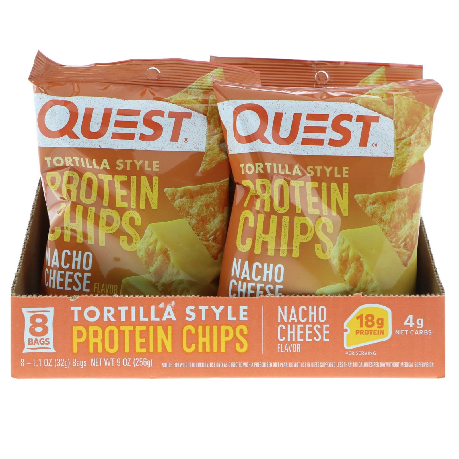 퀘스트뉴트리션 단백질 칩 나초 치즈 8개 프로틴바, 1개, -