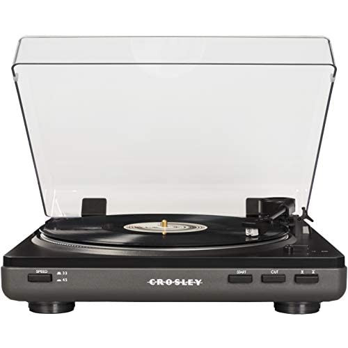 Crosley T400 Fully Automatic 2-Speed Component Turntable with Built-in Preamp White, 옵션 2 Color = Grey
