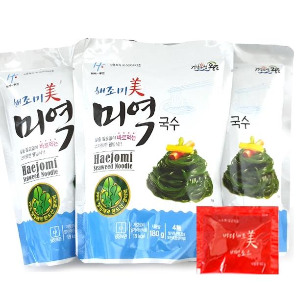 해조미 미역국수 180gx10봉+비빔소스10개, 1개
