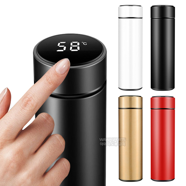 SHL 보온보냉 스마트 LED 온도표시 스텐 텀블러, 500ml, LED_온도표시Tumbler(블랙)