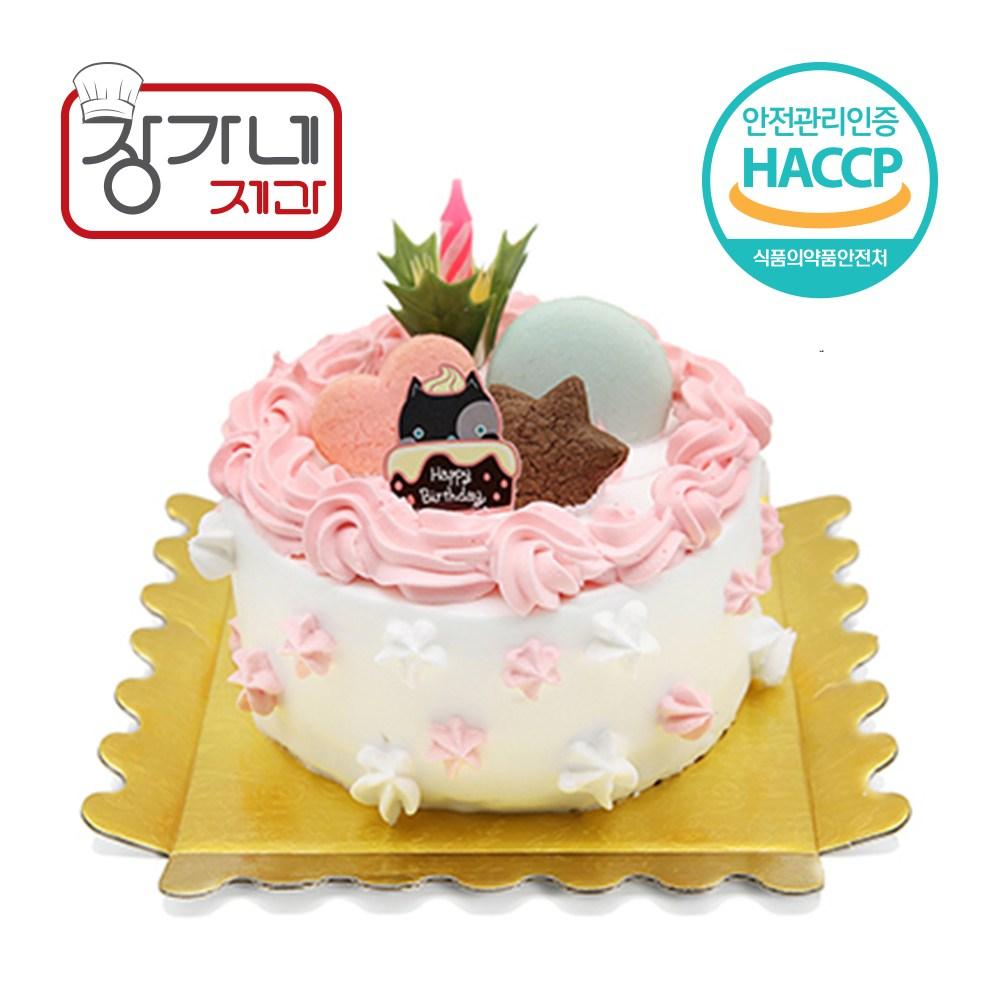 장가네제과 케익재료세트 기념일케이크만들기(미니)(초코시트), 1set, 120g
