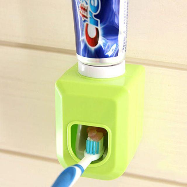 MCJ080345원터치 깔끔 치약 디스펜서 욕실 인테리어 간편 사용 튜브링거 욕실디스펜서 치약짜개 튜브짜개, 화이트