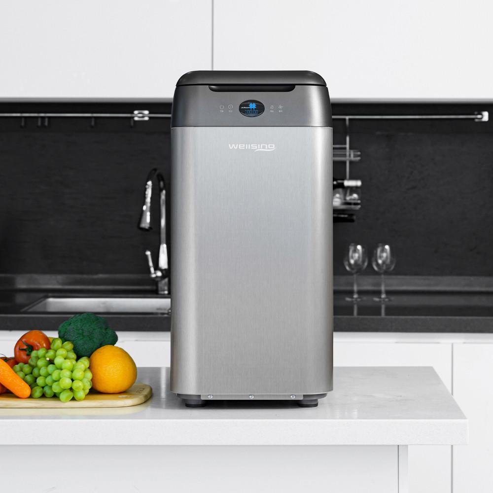 ['A/S 2년 연장' 해드립니다] 웰싱 음식물 처리기 2kg 가정용 미생물 건조기 분쇄기 (6/18순차발송), 웰싱 음식물처리기 2kg - 실버