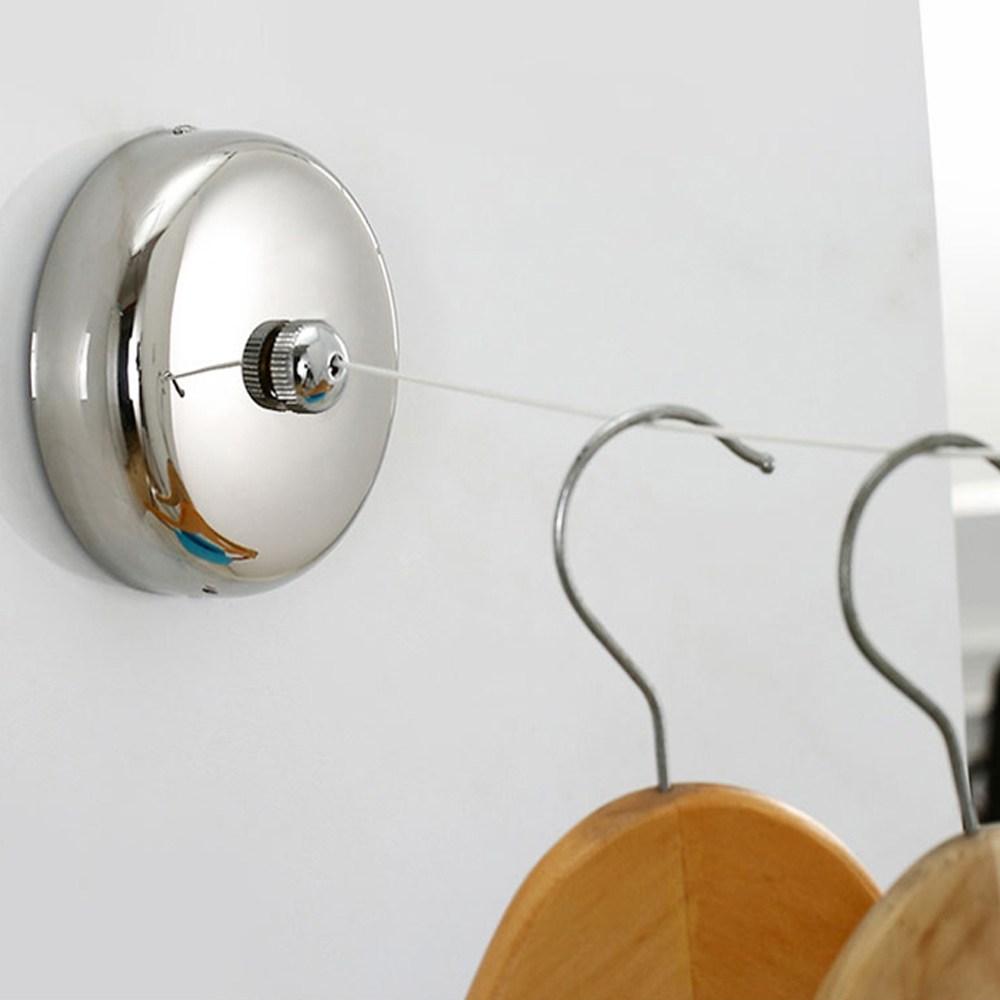 제이와이홀딩스 원룸 자취 빨래건조대 천장 벽 와이어 빨래줄, 1개