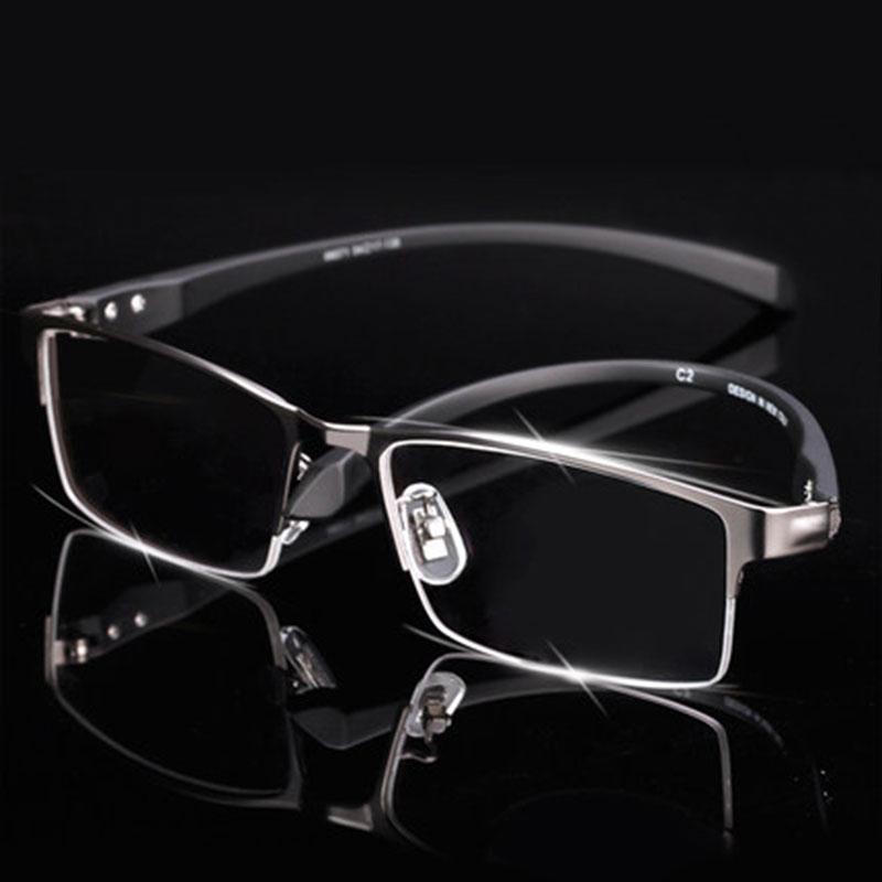 남자 티타늄 합금 안경 프레임 남자 안경 유연한 사원 다리 IP 전기 도금 합금 소재 전체 테두리 및 하프 림|frames for men|eyeglass frames for