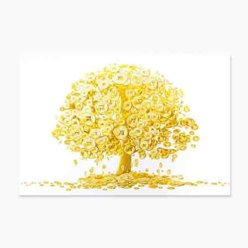 풍수아트 돈들어오는 그림 거실 현관 풍수 인테리어 액자 돈나무 4종, 1.황금돈나무
