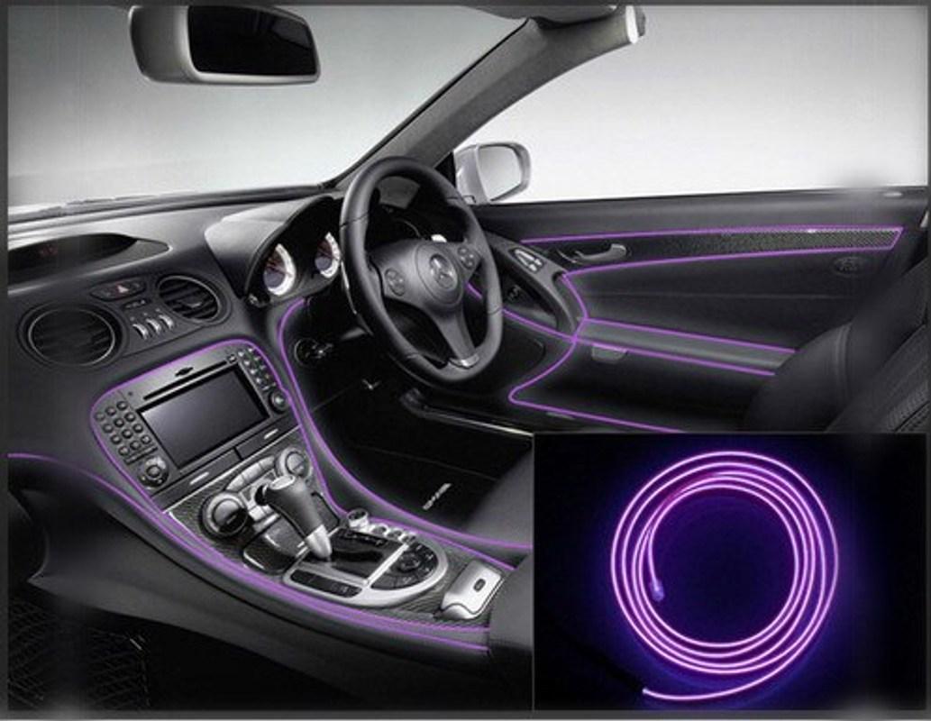 자동차 인테리어 램프 네온 스트립 led 메르세데스 벤츠 W201 A 클래스 GLA W176 CLK W209 W202 W220 W204 W203 W210, 보라색, 2 분 (POP 5635449426)