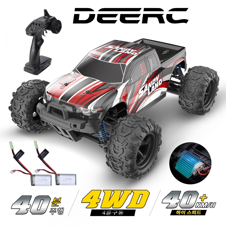 DEERC RC카 하이 스피드 몬스터트럭 9300 스피드40km 배터리2개 40분주행 방수