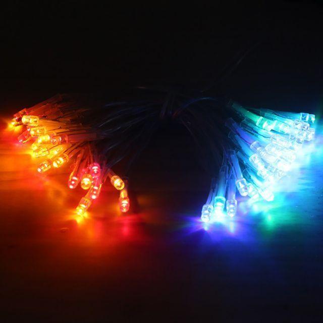 지식중심지_소확행 홈캠핑 홈파티 LED 30P 투명선 컬러 배터리형 크리스마스 전구 A335767_KH, 00단품
